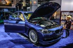 FRANKFURT - SEPT 2015: BMW Alpina B3 Biturbo som in framläggas på IAA Fotografering för Bildbyråer