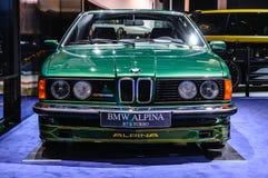 FRANKFURT - SEPT 2015: BMW Alpina B7 S turboladdare som in framläggas på IAA Fotografering för Bildbyråer