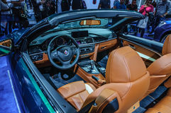 FRANKFURT - SEPT 2015: BMW Alpina D4 Biturbo som in framläggas på IAA Royaltyfria Bilder