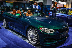 FRANKFURT - SEPT 2015: BMW Alpina D4 Biturbo som in framläggas på IAA Arkivbild