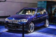 FRANKFURT - SEPT 2015: BMW Alpina XD3 Biturbo som framläggas på IAA I Fotografering för Bildbyråer