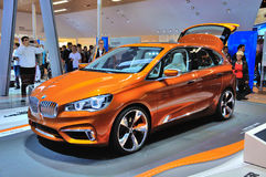 FRANKFURT - SEPT 14: BMW Concept Active Tourer Outdoor presented Stock Photos