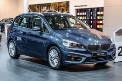 FRANKFURT - SEPT 2015: BMW 216d presented at IAA International Royalty Free Stock Photo