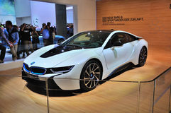 FRANKFURT - SEPT 14: BMW i8 presented as world premiere at the 6 Royalty Free Stock Photo