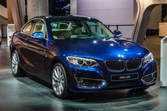 FRANKFURT - SEPT 2015: BMW 228i presented at IAA International Stock Photography