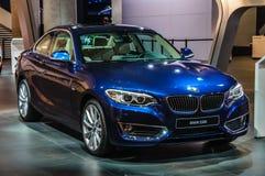 FRANKFURT - SEPT 2015: BMW 228i presented at IAA International Stock Photography