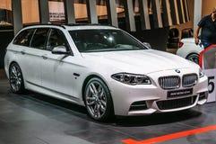 FRANKFURT - SEPT 2015: BMW M550d xDrive presented at IAA Interna Royalty Free Stock Images
