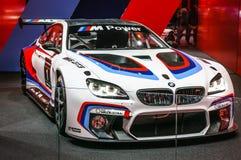 FRANKFURT - SEPT. 2015: BMW M6 GT3 bij Internationale die IAA wordt voorgesteld Stock Foto
