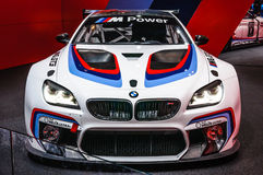 FRANKFURT - SEPT 2015: BMW M6 GT3 presented at IAA International Stock Photos