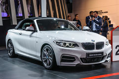 FRANKFURT - SEPT 2015: BMW M235i xDrive cabrio presented at IAA Royalty Free Stock Image