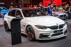 FRANKFURT - SEPT 2015: BMW M3 som framläggas på IAA-Internationalkvickheten Fotografering för Bildbyråer