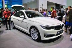 FRANKFURT - SEPT 14: BMW 3 serie Gran framlade Turismo (GT) som Royaltyfria Bilder