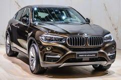 FRANKFURT - SEPT 2015: BMW X6 xDrive40d presented at IAA Interna Stock Photo