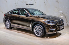 FRANKFURT - SEPT 2015: BMW X6 xDrive40d presented at IAA Interna Stock Photography