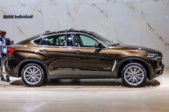 FRANKFURT - SEPT 2015: BMW X6 xDrive40d presented at IAA Interna Royalty Free Stock Photos