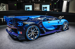 FRANKFURT - SEPT 2015: Bugatti Chiron Vision Gran Turismo presented at IAA International Motor Stock Image