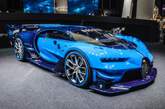 FRANKFURT - SEPT 2015: Bugatti Chiron Vision Gran Turismo presented at IAA International Motor. Show on September 20, 2015 in Frankfurt, Germany Royalty Free Stock Images