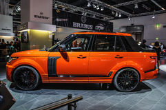 FRANKFURT - SEPT 2015: Crackpot Startech Range Rover pick-up tru Royalty Free Stock Photo