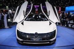 FRANKFURT - SEPT. 2015: De Sport van Volkswagen VW Golf bij IAA wordt voorgesteld die Stock Fotografie