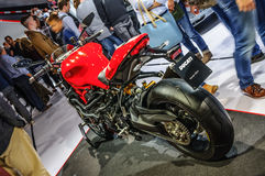 FRANKFURT - SEPT 2015: Ducati Streetfighter 848 presented at IAA Royalty Free Stock Photo