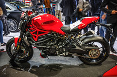 FRANKFURT - SEPT 2015: Ducati Streetfighter 848 presented at IAA Royalty Free Stock Photography