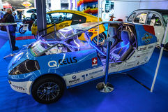 FRANKFURT - SEPT 2015: electric car prototype presented at IAA I. Nternational Motor Show on September 20, 2015 in Frankfurt, Germany Royalty Free Stock Photography