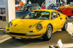 FRANKFURT - SEPT 2015: 1971 Ferrari Dino 246 presented at IAA Royalty Free Stock Photo