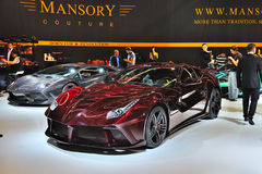 FRANKFURT - SEPT 14: Ferrari Mansory 458 Italia presented as wor. Ld premiere at the 65th IAA (Internationale Automobil Ausstellung) on September 14, 2013 in Royalty Free Stock Images