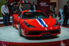 FRANKFURT - SEPT 21: Ferrari 458 Speciale presented as world pre Royalty Free Stock Photos
