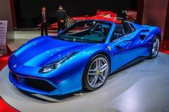 FRANKFURT - SEPT 2015: Ferrari 488 Spider presented at IAA International Motor Show Royalty Free Stock Image