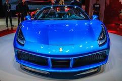 FRANKFURT - SEPT. 2015: Ferrari 488 Spin bij Internationale de Motorshow die van IAA wordt voorgesteld Stock Afbeelding