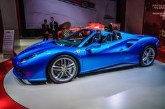 FRANKFURT - SEPT. 2015: Ferrari 488 Spin bij Internationale de Motorshow die van IAA wordt voorgesteld Stock Foto