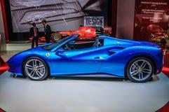 FRANKFURT - SEPT. 2015: Ferrari 488 Spin bij Internationale de Motorshow die van IAA wordt voorgesteld Royalty-vrije Stock Afbeeldingen