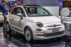 FRANKFURT - SEPT. 2015: Fiat 500 bij IAA Internationaal M wordt voorgesteld dat Stock Foto