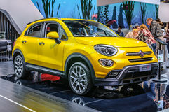 FRANKFURT - SEPT 2015: FIAT 500x presented at IAA International. Motor Show on September 20, 2015 in Frankfurt, Germany Royalty Free Stock Images