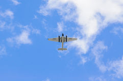 FRANKFURT - SEPT. 2015: Flugzeuge Ju 52 IWC Schaffhausen HB-HOS Stockbild
