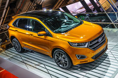 FRANKFURT - SEPT 2015: Ford Edge presented at IAA International. Motor Show on September 20, 2015 in Frankfurt, Germany Royalty Free Stock Photos