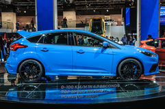 FRANKFURT - SEPT. 2015: Ford Focus RS bij IAA Internatio wordt voorgesteld die royalty-vrije stock foto