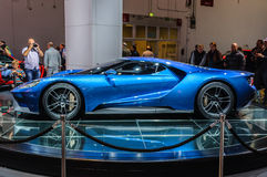 FRANKFURT - SEPT 2015: Ford GT supercar concept presented at IAA Royalty Free Stock Photos