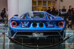 FRANKFURT - SEPT 2015: Ford GT supercar concept presented at IAA Stock Photo