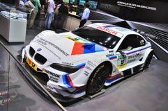 FRANKFURT - SEPT 14: Framlagd BMW M3 E92 tävlings- upplaga GT2 som arkivbilder
