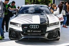 FRANKFURT - SEPT. 2015: Het concept van Audi RS 7 bij IAA-Intern wordt voorgesteld die Stock Foto