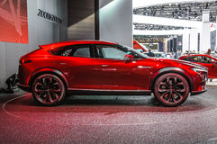 FRANKFURT - SEPT. 2015: Het Concept van Mazda Koeru bij IAA Inte wordt voorgesteld die Stock Fotografie