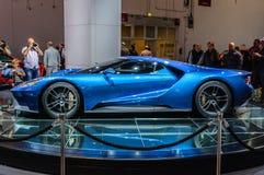 FRANKFURT - SEPT. 2015: Het supercar die concept van Ford GT bij IAA wordt voorgesteld Royalty-vrije Stock Foto's