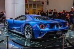 FRANKFURT - SEPT. 2015: Het supercar die concept van Ford GT bij IAA wordt voorgesteld Royalty-vrije Stock Afbeelding