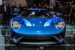 FRANKFURT - SEPT. 2015: Het supercar die concept van Ford GT bij IAA wordt voorgesteld Royalty-vrije Stock Foto