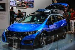 FRANKFURT - SEPT 2015: Honda Civic Tourer Active Life concept pr Stock Photo
