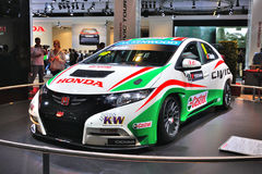 FRANKFURT - SEPT 14: Honda Civic WTCC presented as world premier Royalty Free Stock Photo