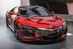 FRANKFURT - SEPT. 2015: Honda NSX-concept bij IAA-Intern wordt voorgesteld die Stock Fotografie