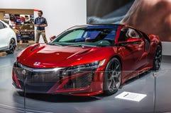 FRANKFURT - SEPT. 2015: Honda NSX-concept bij IAA-Intern wordt voorgesteld die Royalty-vrije Stock Foto's